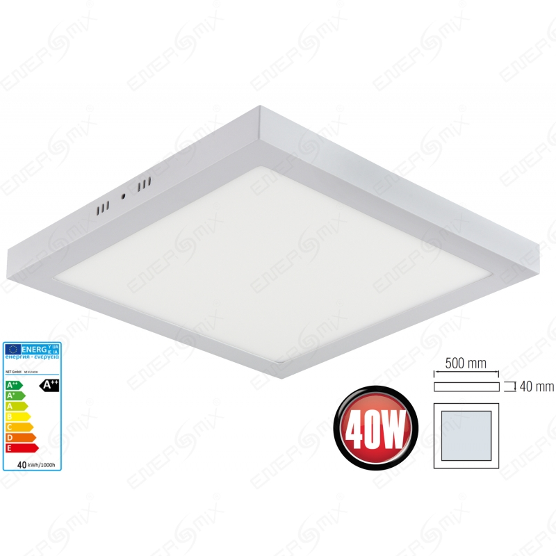 led panel leuchte deckenleuchte deckenlampe aufputz rund oder eckig 1 12 95. Black Bedroom Furniture Sets. Home Design Ideas