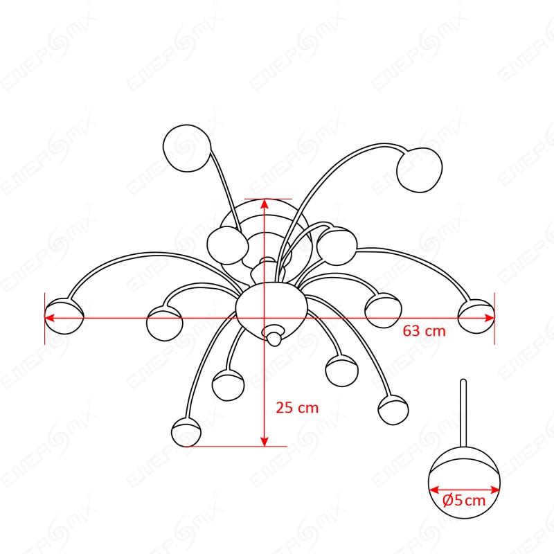 led wohnzimmerlampe:Deckenlampen LED Wohnzimmerlampe Gestell chromfarben, 159,45 €