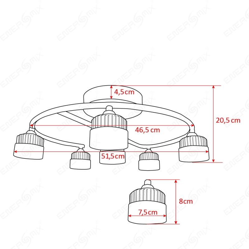 led wohnzimmerlampe:Deckenlampen LED Wohnzimmerlampe Gestell chromfarben, 69,95 €