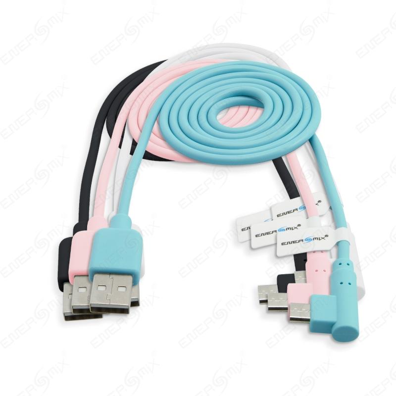 Energmix 1m Micro USB Kabel 90 Grad gewinkelt (Winkelstecker), 3,95 €