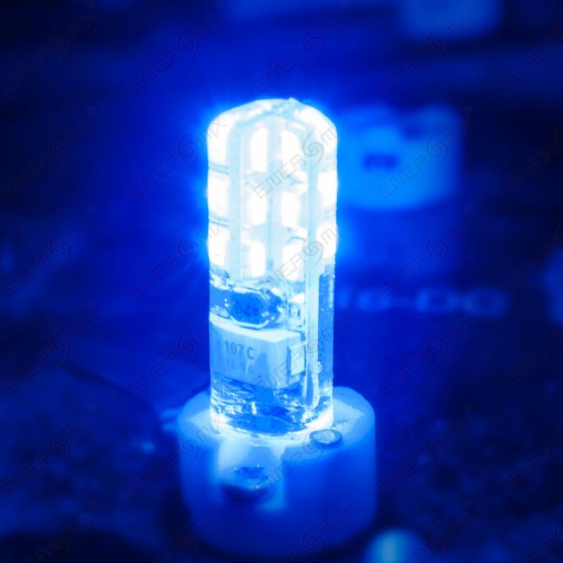 g4 led silikon leuchtmittel blau 1 5 watt 3 75. Black Bedroom Furniture Sets. Home Design Ideas