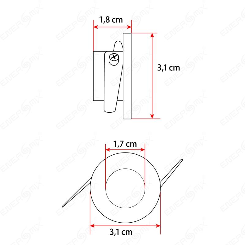 led einbauleuchten rahmen wei rund 1 3 watt inkl trafo durchmesser 3 1 cm 6 95. Black Bedroom Furniture Sets. Home Design Ideas