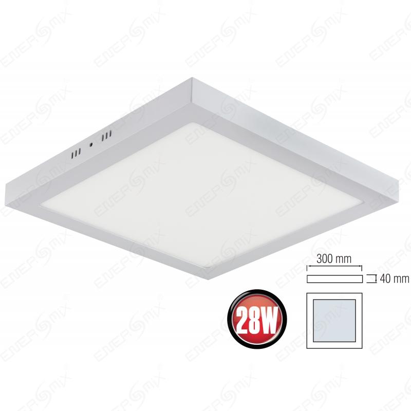 Energmix led panel rund 18 watt 27 50 for Led deckenlampe eckig