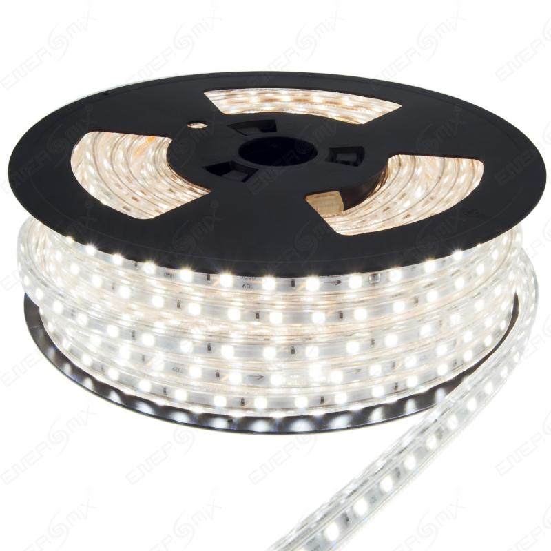 led strip kaltwei 230v mit 60x 5050 smd pro meter wei er hintergrund 110 95. Black Bedroom Furniture Sets. Home Design Ideas