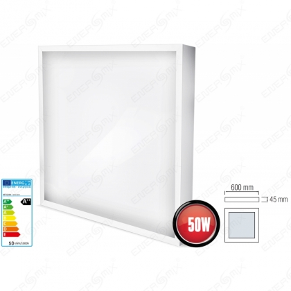 Aufputz LED Panel Quadrat 50 Watt-Eckig 600x600mm