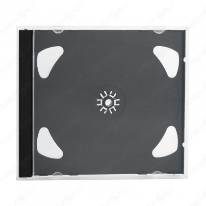 2er CD / DVD Jewel Case Schwarz 10mm