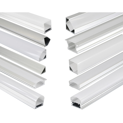 LED Profile mit Abdeckung  LED Alu Hart Strip set