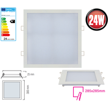 LED Panel Ultra Slim 24 Watt-eckig-Weiß Neutralweiß
