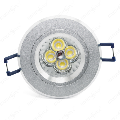 LED Einbauleuchten-Set - Rahmen Aluminium gebürstet / GU10 Fassung ...