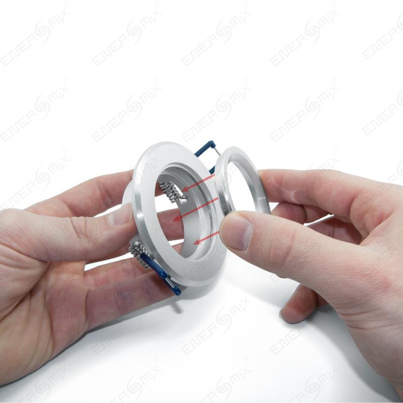 einbauleuchte rahmen aluminium geb rstet ohne lampen und fassung 3 45. Black Bedroom Furniture Sets. Home Design Ideas