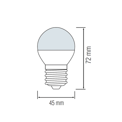 4 Watt Flament E27 G45 Mini LED Leuchtmittel 2200K Warmweiß