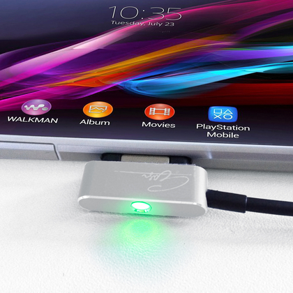 Magnet USB Ladekabel für Sony Xperia Z1/Z2 Compact Ultra XL39H 90cm inklusive LED-Beleuchtung