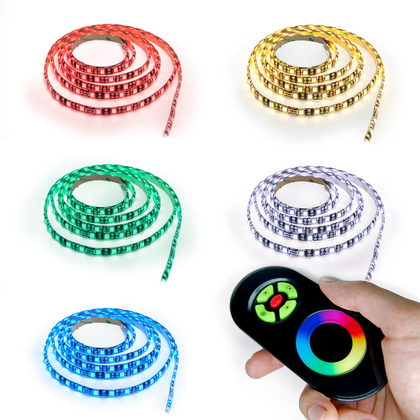 LED RGB Strip Streifen Set - 60 LED pro Meter mit Touch Fernbedienung