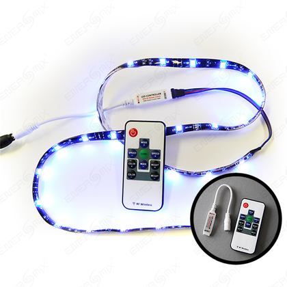 LED RGB Strip Streifen Set - 30 LED pro Meter mit Mini Controller