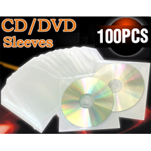 CD DVD Folien hüllen Plastik Folienhüllen CD Sleeve Leere...