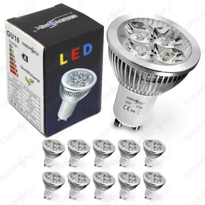 GU10 LED SPOT Lampe LED Strahler Licht Energiespar Lampe 4.5 Watt 10 ...